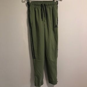 EUC Adidas Army Green Joggers Size Small